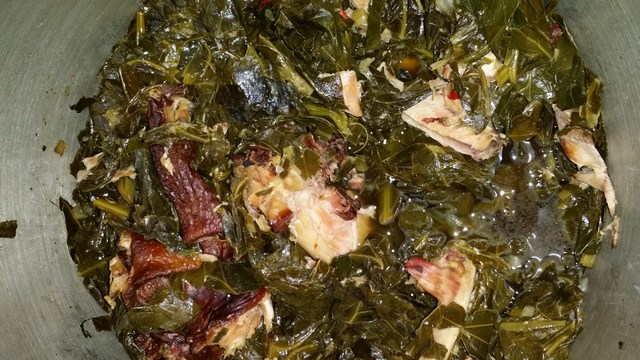 Collards with Smoked Turkey Wings