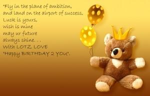 Happy Birthday Baby! I love you!